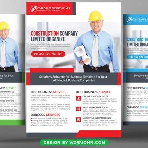 Construction Company Flyer Psd Template