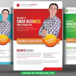 Free IT Company Flyer Psd Template