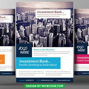 Free Investment Flyer Psd Template