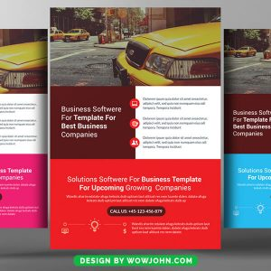 Free Taxi Driver Flyer Psd Template