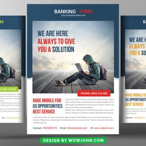 Free Banking Flyer Psd Template