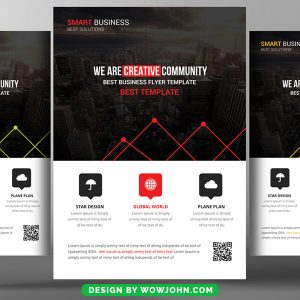 Free Contemporary Real Estate Flyer Psd Template