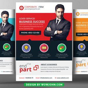 Political Business Flyer PSD Template