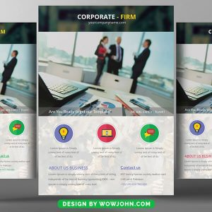 Free Advertising Agency Flyer Psd Template