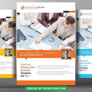 Free Web Hosting Flyer PSD Template