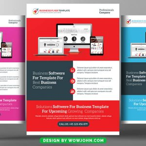 Free Web Solutions Flyer Psd Template