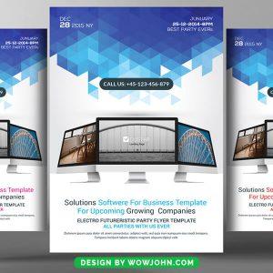 Free SEO Company Flyer Template PSD