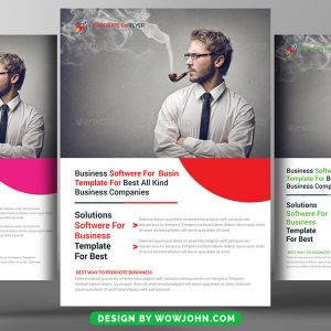 Free Software House Flyer Template PSD