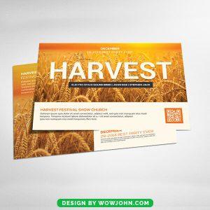 Harvest Festival Church Flyer Card Psd Template