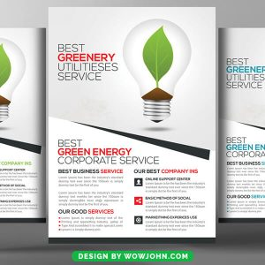 Free Utility Energy Company Psd Flyer Template