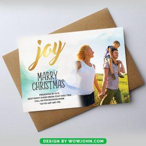 Free Christmas Photo Template Photo Holiday Card