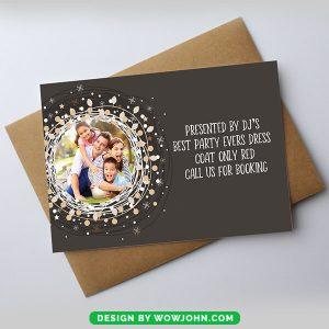 Simple Christmas Card Editable Psd Download