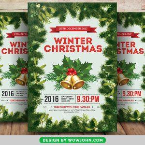 Winter Christmas Psd Flyer Template