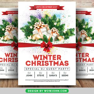 Free Winter Christmas Psd Flyer Template