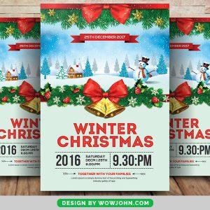 2021 Winter Christmas Psd Flyer Template
