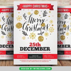 25th December Christmas Psd Flyer Template