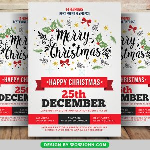 Merry Happy Christmas Psd Flyer Template