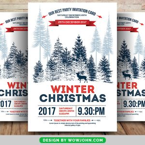 Free Christmas Flyer Templates for Photoshop