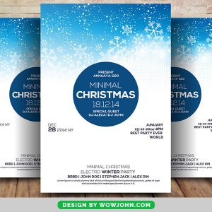 Free Christmas Celebration PSD Flyer Template