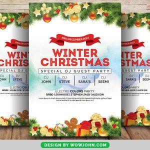 Free Christmas Night PSD Flyer Template