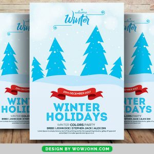 Free Winter Holiday Psd Flyer Template