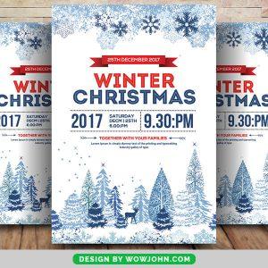 Free Night Club Christmas PSD Flyer Template