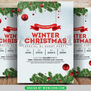 Free Family Christmas Event Flyer PSD Template