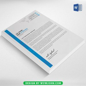 Free Word Doc Letterhead Psd Template Download