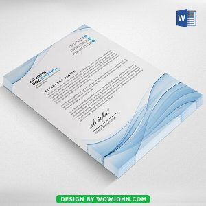 A4 Letterhead Template Psd Free Download