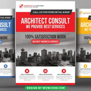 Architecture Industry Psd Flyer Template