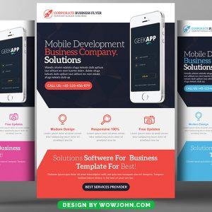 Mobile Apps Development Psd Flyer Template