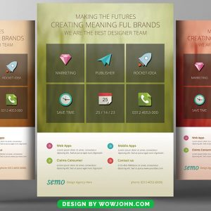 I phone Apps Promotion Psd Flyer Template