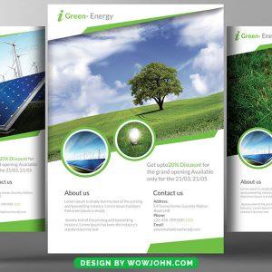 Renewable Energy Flyer Free Psd Template