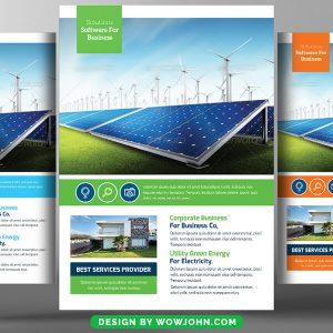 Solar Power Energy Flyer Free Psd Template