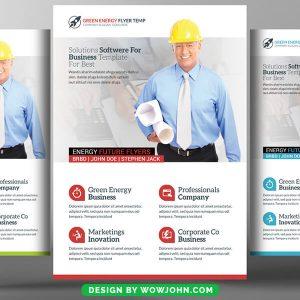 Software Design Psd Flyer Template Free