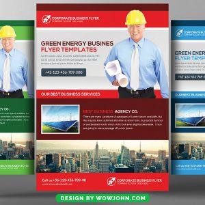 Solar Energy Service Psd Flyer Template