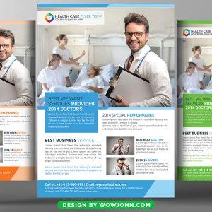 Health Medical Hospital Flyer Psd Template