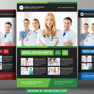 Medical Doctor Flyer Templates For Psd