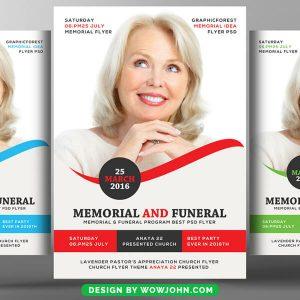 Free Memorial Funeral Flyer Psd Template