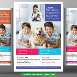 Pets Doctor Clinic Hospital Psd Flyer Template