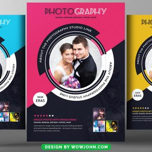 Wedding Photography Studio Flyer Psd Template