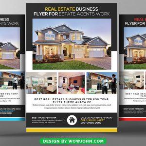 Property Dealer Real Estate Psd Flyer Template