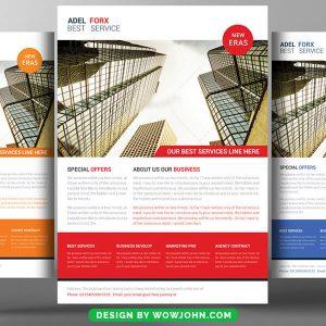 Property Advisor Psd Flyer Template Design