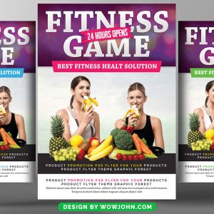 Fitness Dieting Health Psd Flyer Template