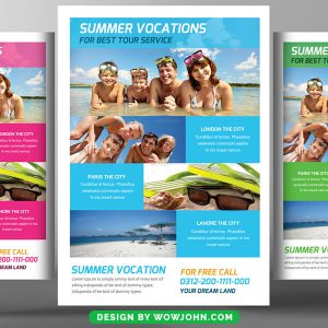Kids Summer Camp Vocations Psd Flyer Template