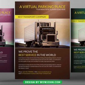 Free Food Truck Psd Flyer Design Template