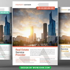 Simple Realtor Flyer Template Psd Download