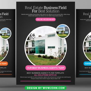 Classic Real Estate Flyer Psd Template