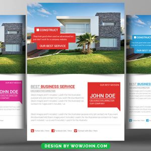 Real Estate Flyer Template in PSD Design