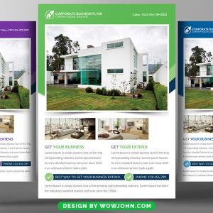 Real Estate Open House Flyer Template in Photoshop